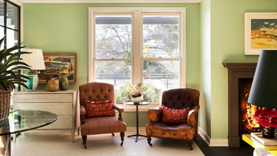 arm chairs in living room